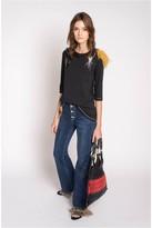 Sonia Rykiel HighWaist Denim Jeans With Feathers