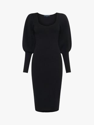 French Connection Joss Balloon Sleeve Jumper Dress, Black