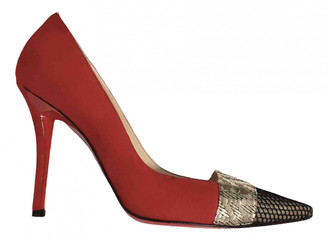 Christian Louboutin Pigalle Red Suede Heels