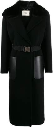 Fendi long belted coat