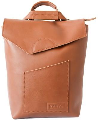 "Convertible Natural Leather Backpack/Handbag ""Cardamom"" Brown"