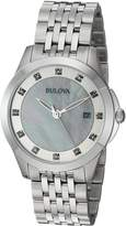 Bulova Women's Quartz Stainless Steel Casual Watch, Color:Silver-Toned (Model: 96P174)