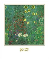 Gustav 1art1 Posters Klimt Poster Art Print - Cottage Garden With Sunflowers, 1905-06 (23 x 19 inches)