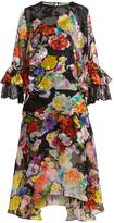 Preen by Thornton Bregazzi Madeleine floral-print silk-blend devoré dress