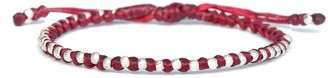 Red Friendship Bracelet For Women Minimalistic Rope And Silver Bead Connection