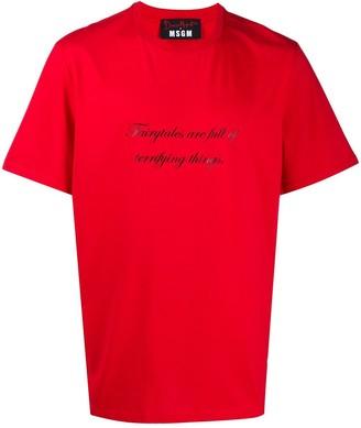 MSGM slogan print cotton T-shirt