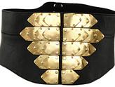 Lace Back Metal Belt Black Lthr/Gold