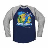 Novelty T-Shirts Minecraft Raglan T-Shirt - Preschool Boys 4-7