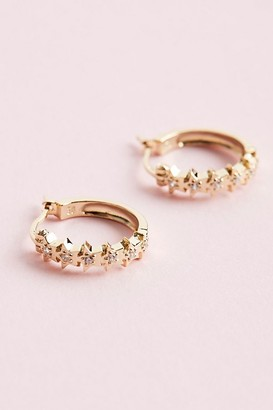 Anna + Nina Starry Hoop Earrings