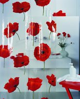Spirella Switzerland Poppy Cinnabar Shower Curtain 71x79in. (180x200 cm.) Vinyl