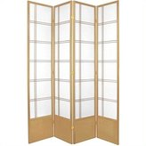 Oriental Furniture Office Partition, 84-Inch Double Cross Japanese Design Floor Screen Room Divider