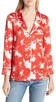 Alice + Olivia (アリス オリビア) - Alice + Olivia Keir Floral Silk Pajama Shirt