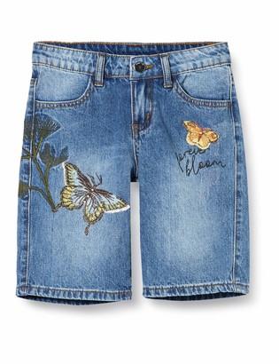 MEK Girl's Bermuda Jeans Con APPL