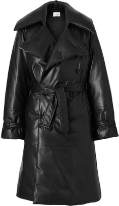 Burberry Lambskin Oversized Puffer Trench Coat