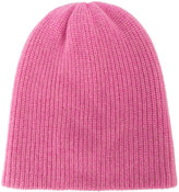 The Elder Statesman Pink Watchman ribbed beanie