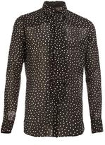 Saint Laurent semi-sheer polka dot shirt