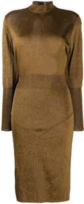 Alaïa Pre-Owned Metallic Stretch Dress