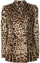 Dolce & Gabbana leopard print double breasted blazer