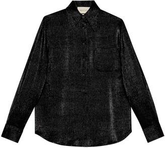 Gucci Pinstripe crepe shirt