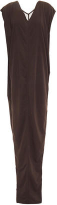 Rick Owens Paneled Draped Cotton-jersey Maxi Dress