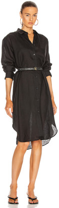 ASCENO The Oxford Dress in Black | FWRD