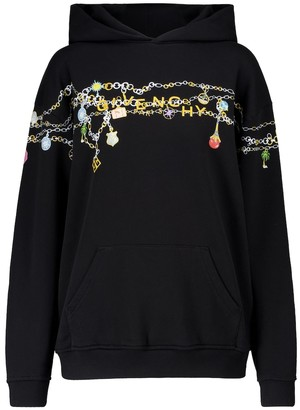 Givenchy Printed cotton jersey hoodie