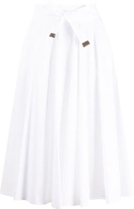 Peserico Tie Waist Full Skirt