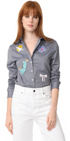 MAISON KITSUNÉ Embroidered Baby Collar Shirt