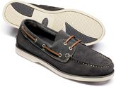 Charles Tyrwhitt Grey Fowey Suede Boat Shoes Size 14