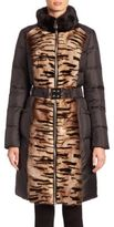 The Fur Salon Mink Fur & Quilted Puffer Coat