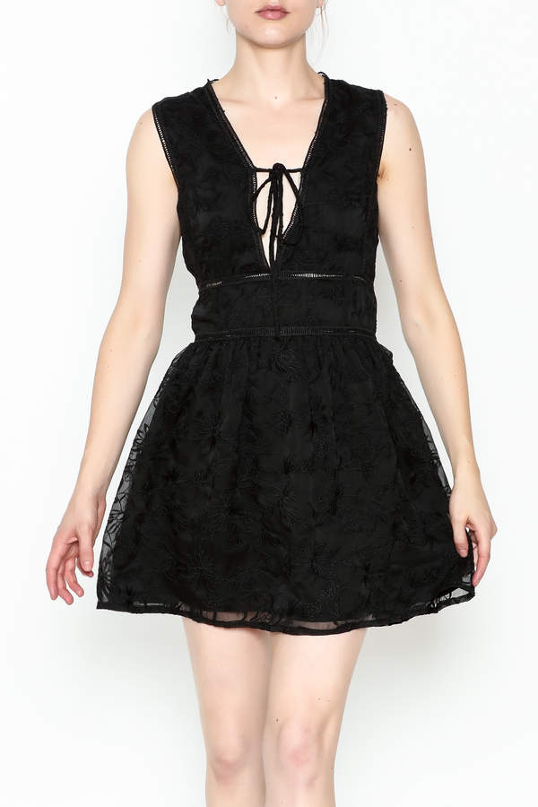 Lucca Couture Celine Deep V Dress
