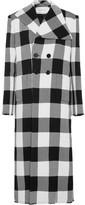 Marques Almeida Marques' Almeida - Checked Wool-gabardine Coat - Black