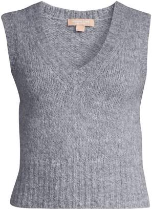 Michael Kors Aplaca & Wool-Blend Knit Vest