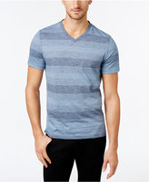 Alfani Men's Big & Tall Micah Stripe V-Neck T-Shirt, Only at Macy's