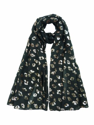 Claudia&Jason Claudia & Jason Glitter Foil Leopard Print Scarf Scarves Wrap Cover Up Festive Gift