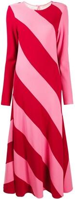 Maggie Marilyn Two-Tone Stripe-Print Maxi Dress