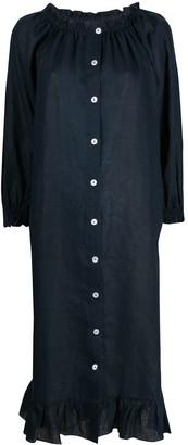 Sleeper Ruffled-Hem Midi Dress
