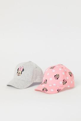 H&M 2-pack Printed Caps - Pink