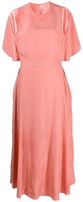 Stella McCartney Rosa Open Back Midi Dress