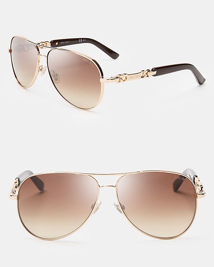 Jimmy Choo Reese Aviator Sunglasses, 59mm