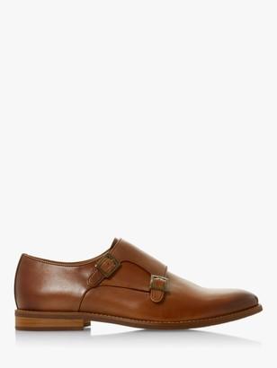 Dune Stowmarket Leather Double Strap Monk Shoes, Tan