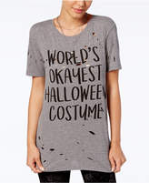 Mighty Fine Juniors' Halloween Costume Graphic T-Shirt