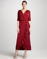 Melissa Masse Ruffled Maxi Dress, Women's