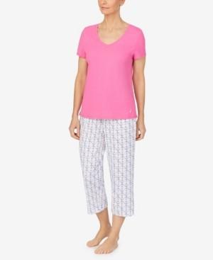 Nautica Women's V-neck T-shirt with Capri Pant Set