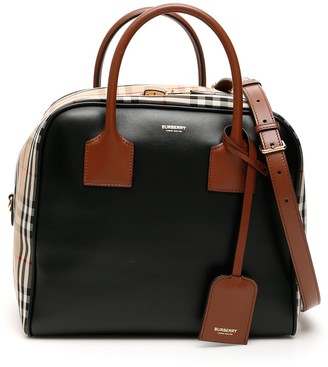 Burberry Checked Cube Tote Bag