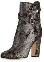 Jimmy Choo Mitchell Metallic Dotted Suede Bootie