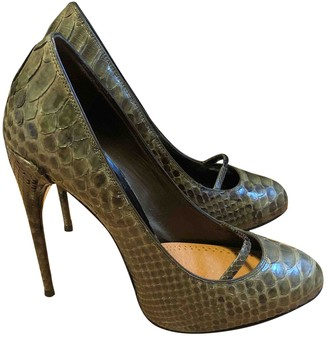 Gucci Green Water snake Heels