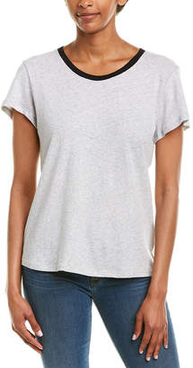 Splendid Colorblocked Linen-Blend T-Shirt