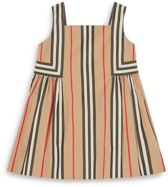 Burberry Kids Icon Stripe Cotton Dress (6-24 Months)
