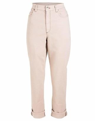 Brunello Cucinelli Warm White Monili Cuff Garment Dyed Jean